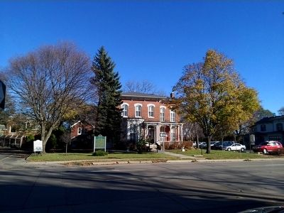 Ypsilanti Marker and Ypsilanti Historical Museum image. Click for full size.