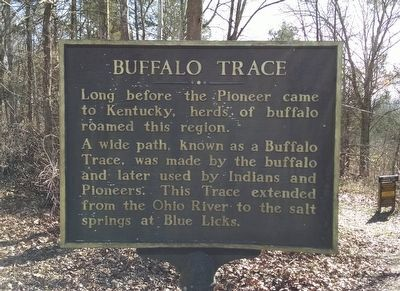 Buffalo Trace Marker image. Click for full size.
