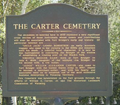 The Carter Cemetery Marker image. Click for full size.