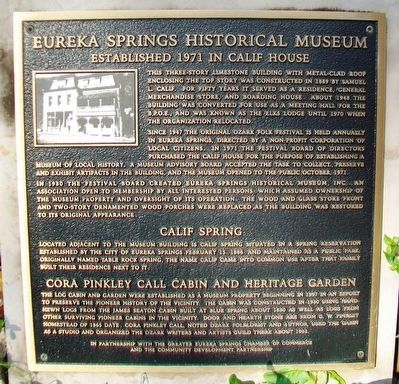 Eureka Springs Historical Museum Marker image. Click for full size.