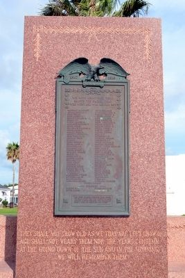 Galveston World War I Honor Roll image. Click for full size.
