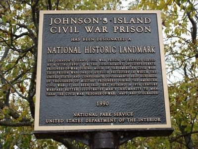 Johnson's Island Civil War Prison Marker image. Click for full size.