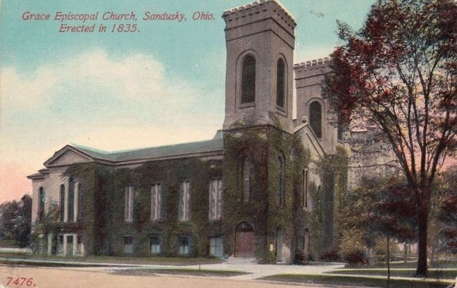 <i>Grace Episcopal Church, Sandusky, Ohio. Erected in 1835.</i> image. Click for full size.