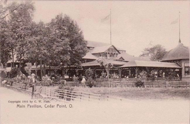 <i>Main Pavilion, Cedar Point, O.</i> image. Click for full size.