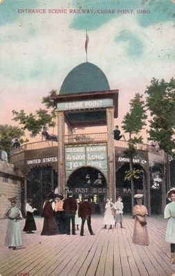 <i>Entrance Scenic Railway, Cedar Point, Ohio</i> image. Click for full size.