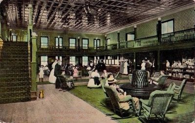 <i>Lobby of Hotel Breakers, Cedar Point, Ohio</i> image. Click for full size.