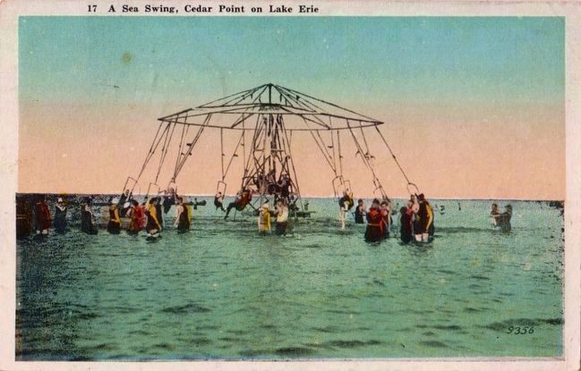 <i>A Sea Swing, Cedar Point on Lake Erie</i> image. Click for full size.