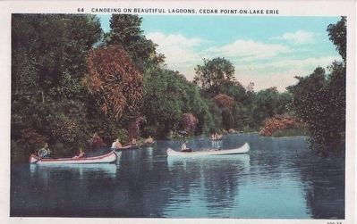<i>Canoeing on Beautiful Lagoons, Cedar Point-on-Lake Erie</i> image. Click for full size.