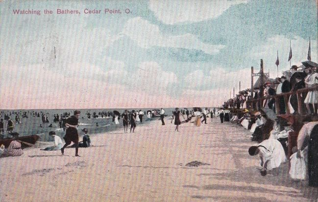 <i>Watching the Bathers, Cedar Point, O.</i> image. Click for full size.