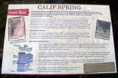 Calif Spring Marker image. Click for full size.