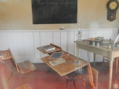 Interior of the School House image. Click for full size.