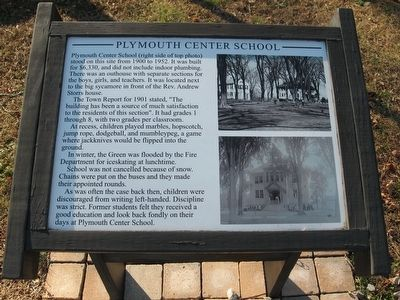 Plymouth Center School Marker image. Click for full size.