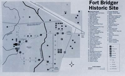 Map of Fort Bridger Historic Site image. Click for full size.