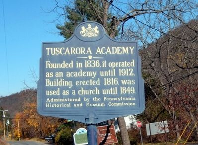 Tuscarora Academy Marker image. Click for full size.