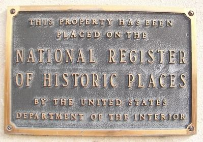 Hall of Waters National Register Marker image. Click for full size.