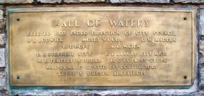 Hall of Waters Erected 1937 image. Click for full size.