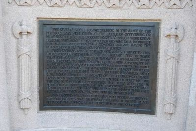 Lincoln Address Memorial<br>Left Plaque image. Click for full size.