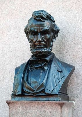 Lincoln Speech Memorial<br>Lincoln Bust image. Click for full size.