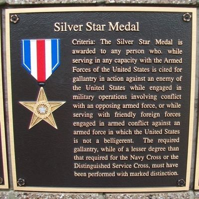 Silver Star Medal Marker image. Click for full size.