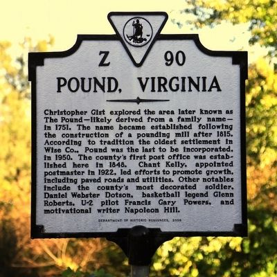 Pound, Virginia Marker image. Click for full size.