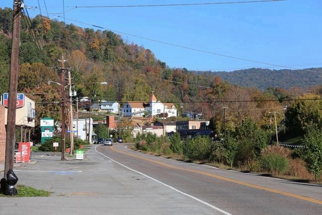 A Glimpse of the Town of Pound from near the Marker image. Click for full size.