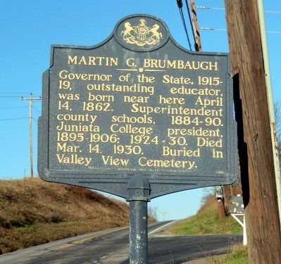 Martin G. Brumbaugh Marker image. Click for full size.