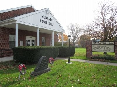 Kendall Town Hall & Memorial image. Click for full size.