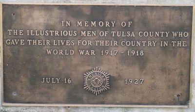 Tulsa Oklahoma World War Memorial image. Click for full size.