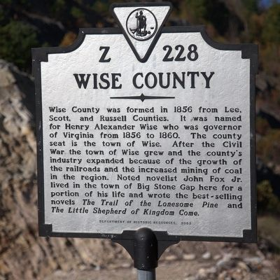 Wise County / Kentucky Marker image. Click for full size.