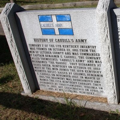Caudill's Army Marker image. Click for full size.