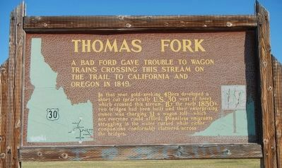 Thomas Fork Marker image. Click for full size.