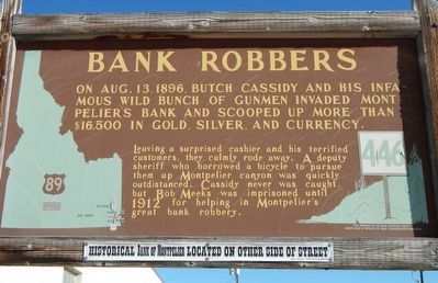 Bank Robbers Marker image. Click for full size.