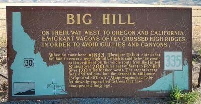 Big Hill Marker image. Click for full size.