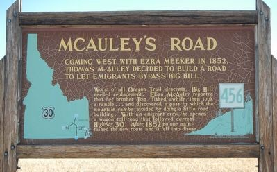 McAuley's Road Marker image. Click for full size.