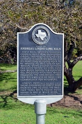 Site of the Andreas Lindig Lime Kiln Marker image. Click for full size.