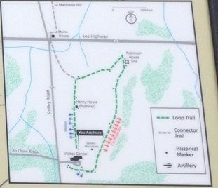 Trail Map on Henry Hill Marker image. Click for full size.