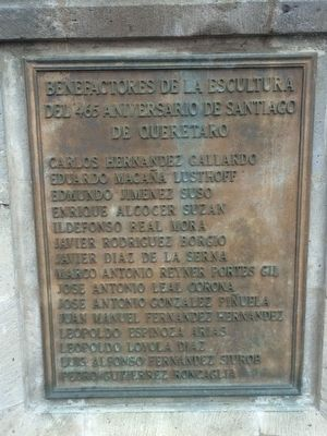 The Founding of Santiago de Querétaro Marker image. Click for full size.