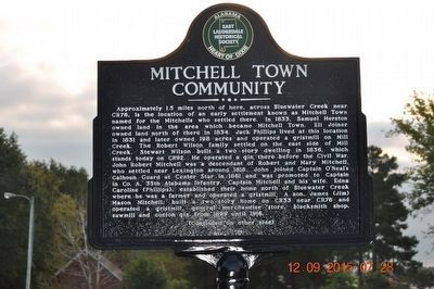 Mitchell Town Community Marker (side 1) image. Click for full size.