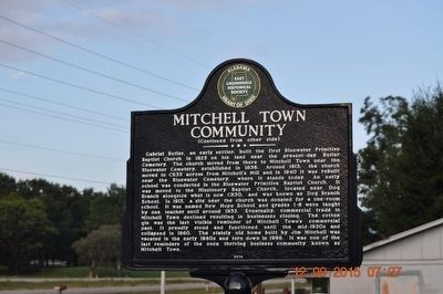 Mitchell Town Community Marker (side 2) image. Click for full size.