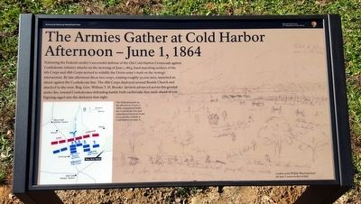 The Armies Gather at Cold Harbor Marker image. Click for full size.