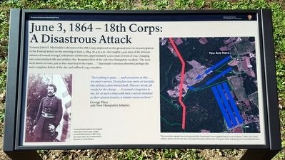 June 3, 1864 — 18th Corps: A Disastrous Attack Marker image. Click for full size.