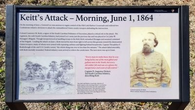 Keitt's Attack — Morning, June 1, 1864 Marker image. Click for full size.