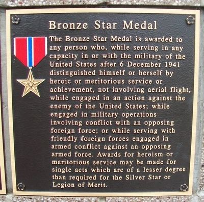 Bronze Star Medal Marker image. Click for full size.