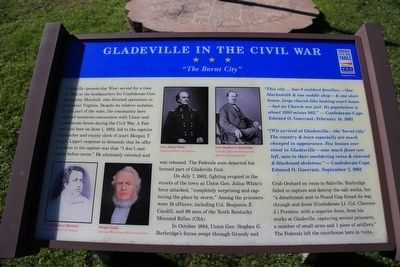 Gladeville in the Civil War Marker image. Click for full size.