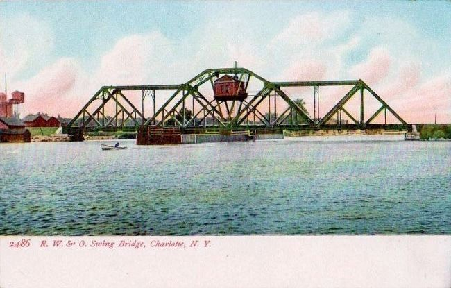 <i>R.W. & O. Swing Bridge, Charlotte, N.Y.</i> image. Click for full size.