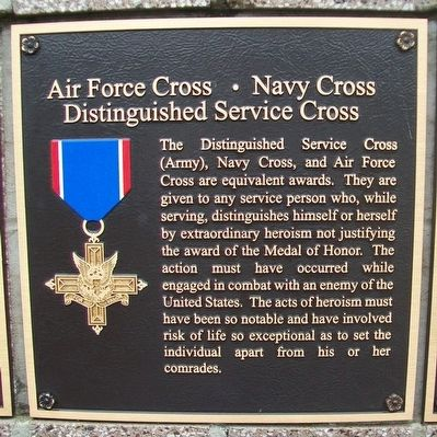 Air Force Cross – Navy Cross – Distinguished Service Cross Marker image. Click for full size.