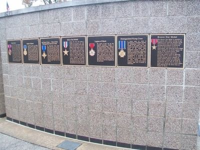 Valor Medals at the Veterans Wall of Honor image, Touch for more information
