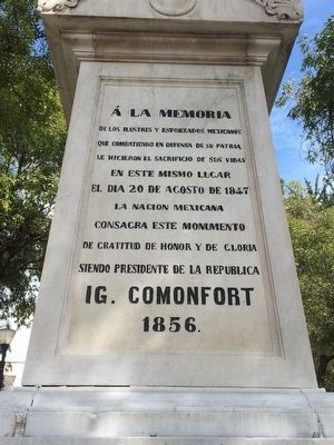 Monument to the Mexican Fallen of 1847 Marker image. Click for full size.