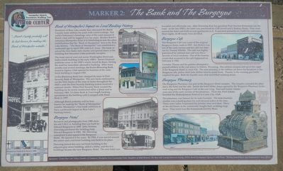 The Bank and The Burgoyne Marker image. Click for full size.