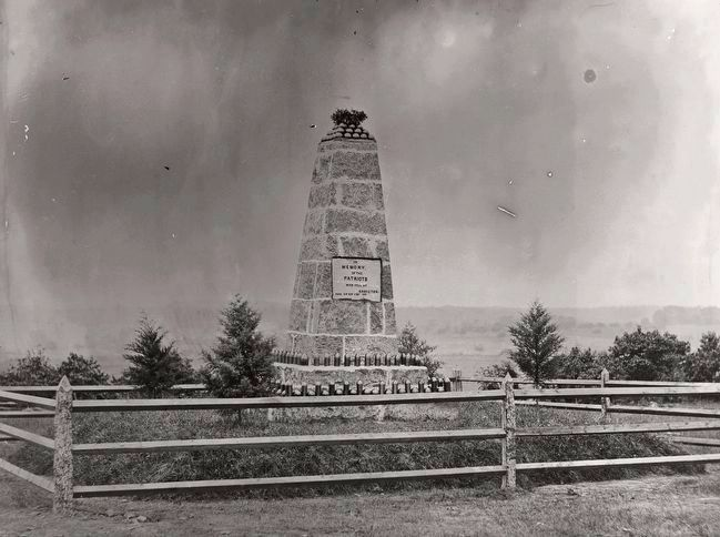 <i>Monument on Battlefield of Groveton</i> image. Click for full size.